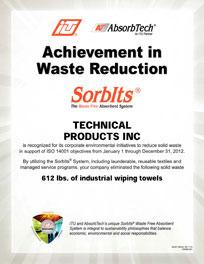 Waste Reduction Certificate